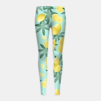 Lemon Twist Vibes #4 #tropical #fruit #decor #art  Kinder-Leggins obraz miniatury