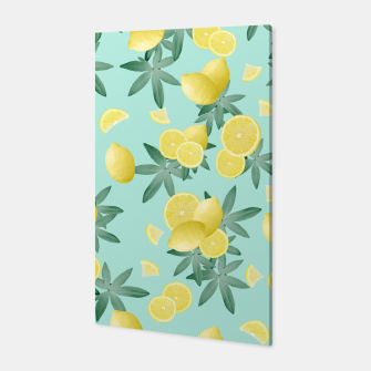 Thumbnail image of Lemon Twist Vibes #4 #tropical #fruit #decor #art  Canvas, Live Heroes