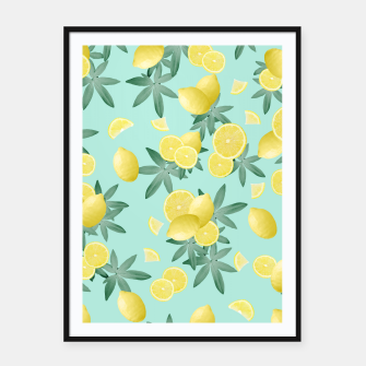Lemon Twist Vibes #4 #tropical #fruit #decor #art  Plakat mit rahmen obraz miniatury