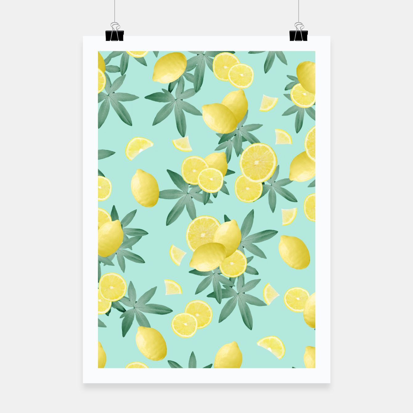 Image of Lemon Twist Vibes #4 #tropical #fruit #decor #art  Plakat - Live Heroes