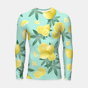 Lemon Twist Vibes #4 #tropical #fruit #decor #art  Longsleeve rashguard obraz miniatury