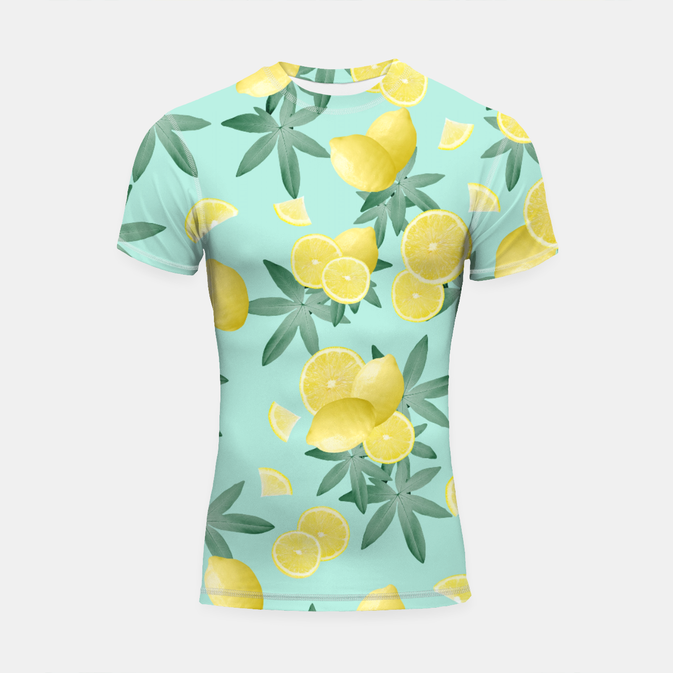 Zdjęcie Lemon Twist Vibes #4 #tropical #fruit #decor #art  Shortsleeve rashguard - Live Heroes