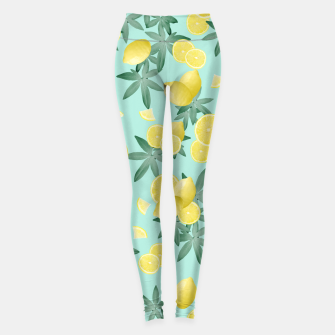 Lemon Twist Vibes #4 #tropical #fruit #decor #art  Leggings obraz miniatury