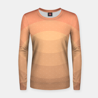 Thumbnail image of Coffee Sunset Abstract Geometric Circles Women sweater, Live Heroes