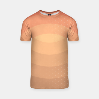 Thumbnail image of Coffee Sunset Abstract Geometric Circles T-shirt, Live Heroes