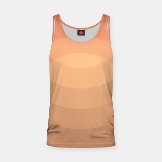 Thumbnail image of Coffee Sunset Abstract Geometric Circles Tank Top, Live Heroes