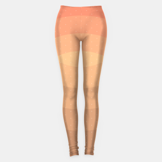 Thumbnail image of Coffee Sunset Abstract Geometric Circles Leggings, Live Heroes