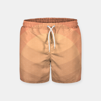 Thumbnail image of Coffee Sunset Abstract Geometric Circles Swim Shorts, Live Heroes
