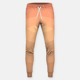 Thumbnail image of Coffee Sunset Abstract Geometric Circles Sweatpants, Live Heroes