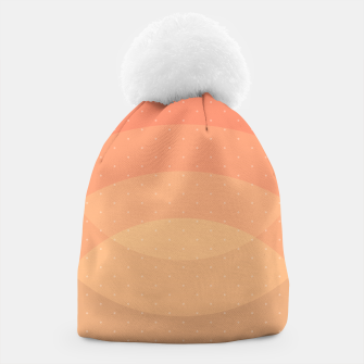 Thumbnail image of Coffee Sunset Abstract Geometric Circles Beanie, Live Heroes