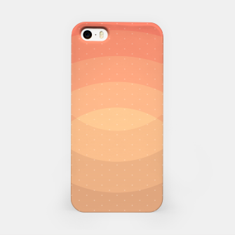 Thumbnail image of Coffee Sunset Abstract Geometric Circles iPhone Case, Live Heroes