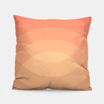 Thumbnail image of Coffee Sunset Abstract Geometric Circles Pillow, Live Heroes