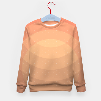 Thumbnail image of Coffee Sunset Abstract Geometric Circles Kid's sweater, Live Heroes