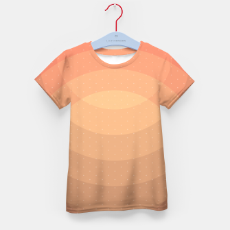 Thumbnail image of Coffee Sunset Abstract Geometric Circles Kid's t-shirt, Live Heroes
