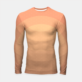 Thumbnail image of Coffee Sunset Abstract Geometric Circles Longsleeve rashguard , Live Heroes