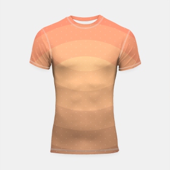Thumbnail image of Coffee Sunset Abstract Geometric Circles Shortsleeve rashguard, Live Heroes