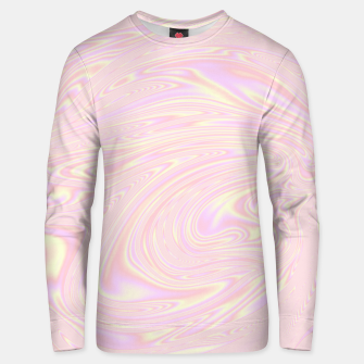 Faux holographic effect texture pink  Unisex sweater thumbnail image