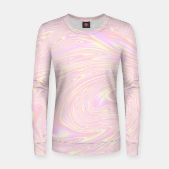 Faux holographic effect texture pink  Women sweater thumbnail image