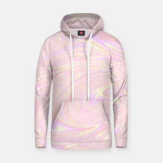 Faux holographic effect texture pink  Hoodie thumbnail image