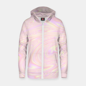 Faux holographic effect texture pink  Zip up hoodie thumbnail image