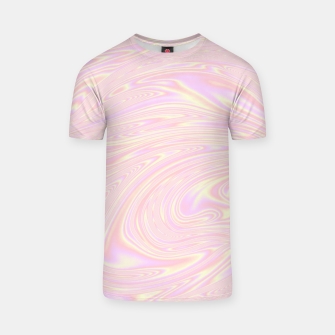 Faux holographic effect texture pink  T-shirt thumbnail image
