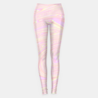 Faux holographic effect texture pink  Leggings thumbnail image
