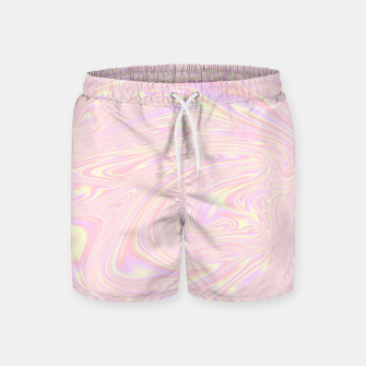 Faux holographic effect texture pink  Swim Shorts thumbnail image