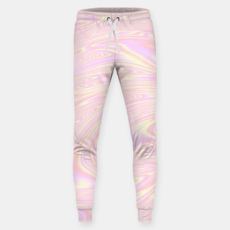 Thumbnail image of Faux holographic effect texture pink  Sweatpants, Live Heroes