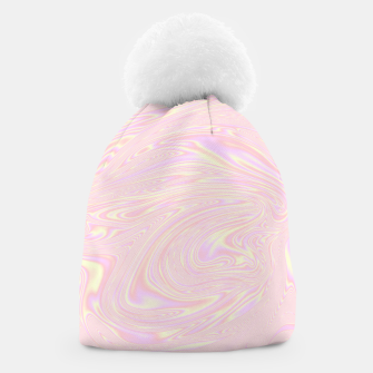 Faux holographic effect texture pink  Beanie thumbnail image