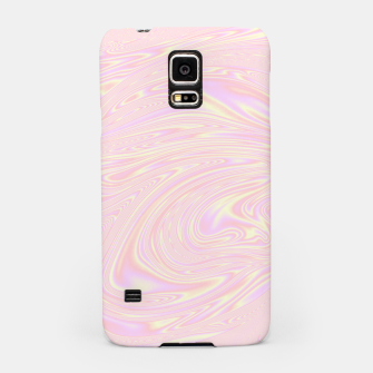 Faux holographic effect texture pink  Samsung Case thumbnail image