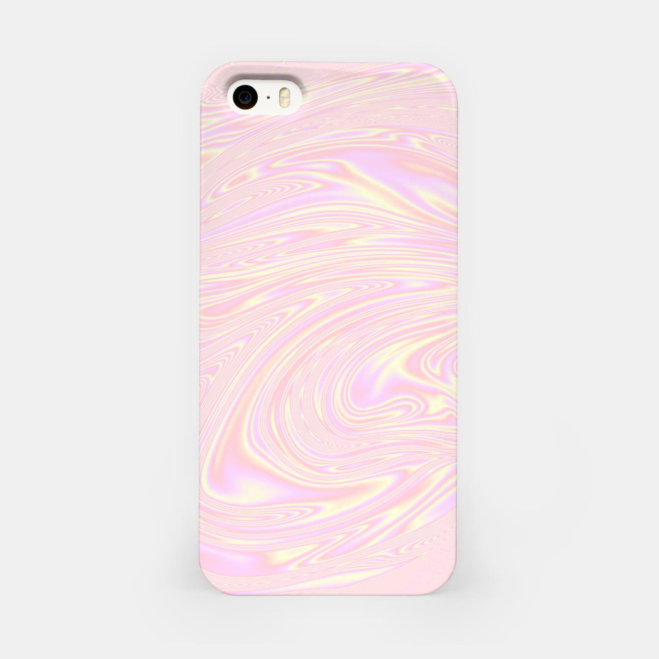 Image of Faux holographic effect texture pink  iPhone Case - Live Heroes