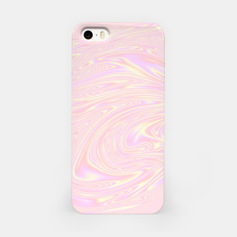 Faux holographic effect texture pink  iPhone Case thumbnail image