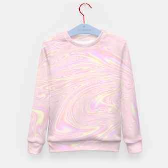 Faux holographic effect texture pink  Kid's sweater thumbnail image