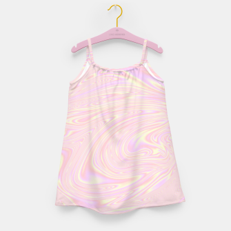 Faux holographic effect texture pink  Girl's dress thumbnail image