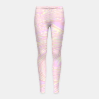 Faux holographic effect texture pink  Girl's leggings thumbnail image