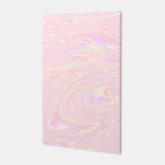 Faux holographic effect texture pink  Canvas thumbnail image