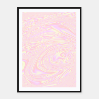 Faux holographic effect texture pink  Framed poster thumbnail image