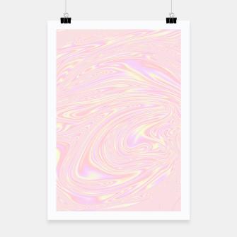 Faux holographic effect texture pink  Poster thumbnail image