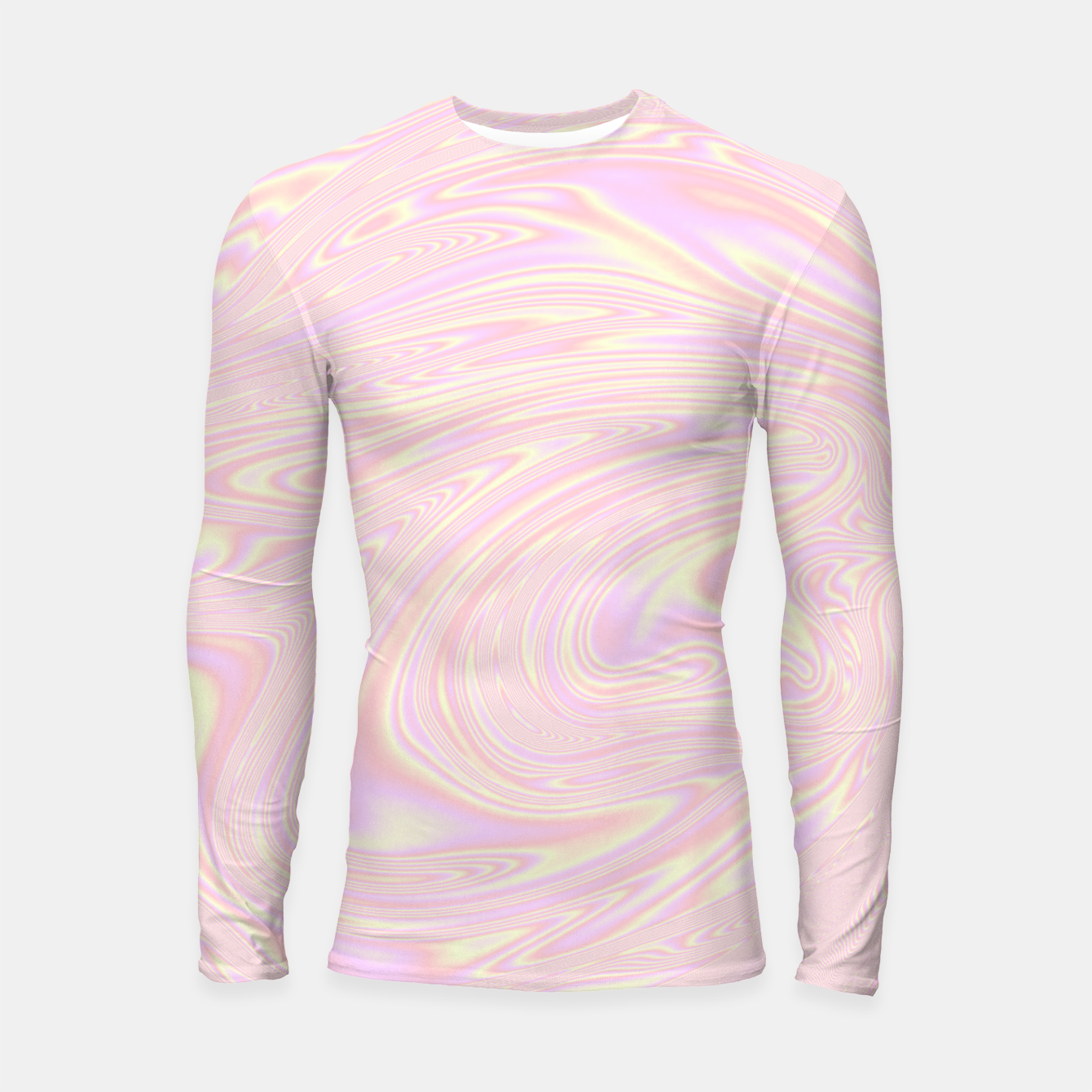 Image of Faux holographic effect texture pink  Longsleeve rashguard  - Live Heroes