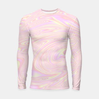 Thumbnail image of Faux holographic effect texture pink  Longsleeve rashguard , Live Heroes