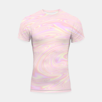 Thumbnail image of Faux holographic effect texture pink  Shortsleeve rashguard, Live Heroes
