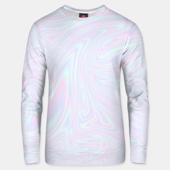Thumbnail image of Faux holographic effect texture blue Unisex sweater, Live Heroes