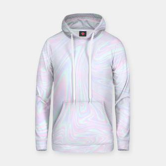 Thumbnail image of Faux holographic effect texture blue Hoodie, Live Heroes