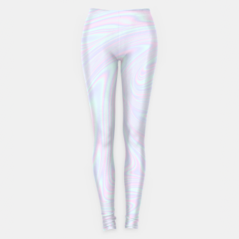 Thumbnail image of Faux holographic effect texture blue Leggings, Live Heroes