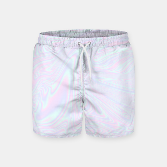 Thumbnail image of Faux holographic effect texture blue Swim Shorts, Live Heroes