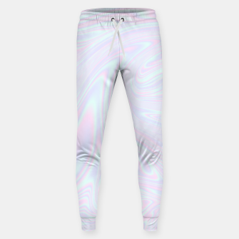 Thumbnail image of Faux holographic effect texture blue Sweatpants, Live Heroes