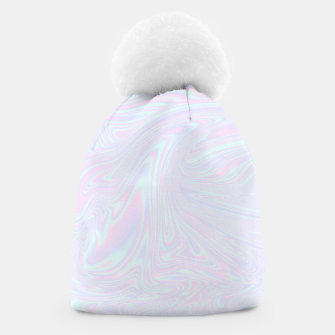 Thumbnail image of Faux holographic effect texture blue Beanie, Live Heroes