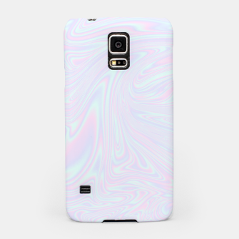 Thumbnail image of Faux holographic effect texture blue Samsung Case, Live Heroes