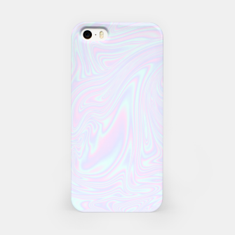 Thumbnail image of Faux holographic effect texture blue iPhone Case, Live Heroes