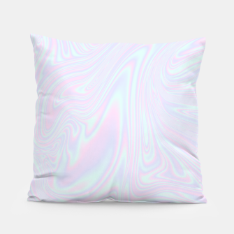 Thumbnail image of Faux holographic effect texture blue Pillow, Live Heroes